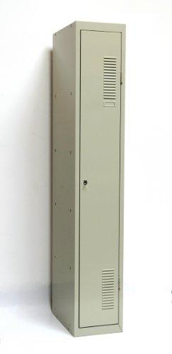 SPIND-1 (Grund) 180x30 cm, 1 Boden, Zylinderschloss, (RAL7035) lichtgrau (Kleiderspind Garderobenschrank Umkleidespind)