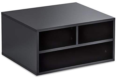CanKun Soporte Impresora, Mesa Impresora 3 Compartimentos Estante Impresora Impresora Multifunción Soporte Impresora Monitor/Soporte Fax Organizador Escritorio Oficina,A1,48 * 39.9 * 22.5cm