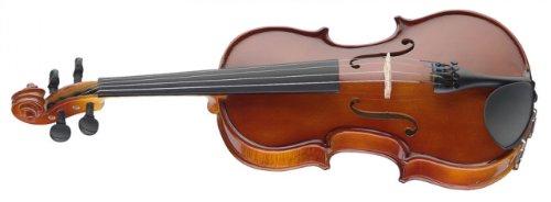 Stagg VN-1/4 EF 1/4 Geige aus massiver Fichtendecke, mit Boden und Zargen aus Ahorn - Natur