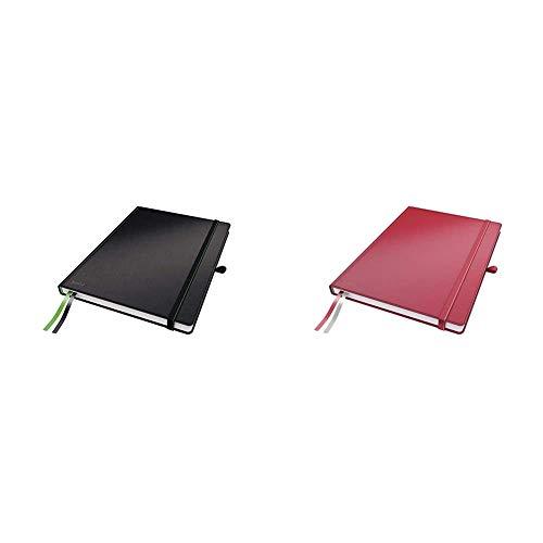 Leitz 44710095 Complete Notizbuch (A4, kariert) schwarz & 44710025 Complete...