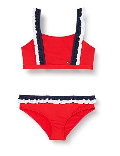 Tommy Hilfiger Mädchen Bralette Bikini-Set, Rot (Red Glare), 14-15 Jahre (Herstellergröße:)