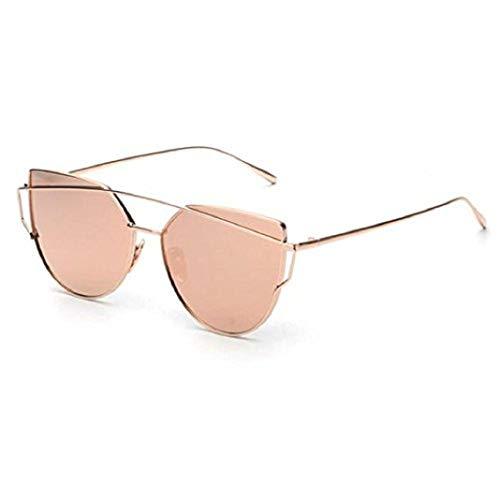 SUCES sonnenbrille damen Mode Beams Klassische Frauen Spiegel Sonnenbrille Cat Eye Brillen Sonnebrille Gespiegelte Linse sonnenbrille damen verspiegelt rosa sunglasses men round Eyewear