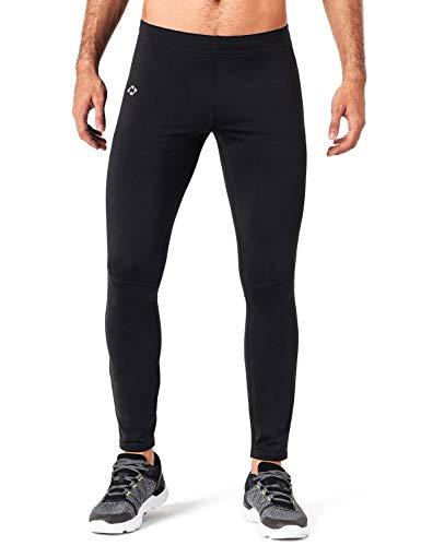 Naviskin Men' Fleece Lined Running Tights Outdoor Pants Zip Pocket Black Size XL