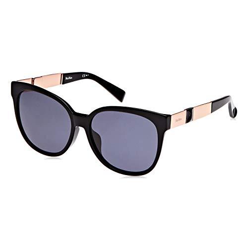 MAX MARA Sonnenbrille MM STONE II FS Rechteckig Sonnenbrille 58, Schwarz