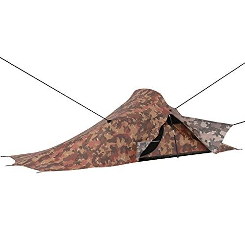 Festnight Kompakt Zelt 1 Personen Wasserdicht Trekkingzelt Ultraleicht Tunnelzelt 1 Mann Campingzelt Firstzelte Outdoor Tent für Camping Trekking Wandern 257x140x95 cm Camouflage