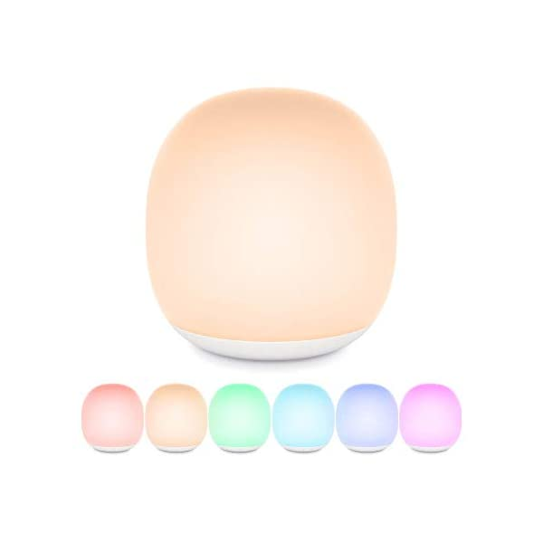 Night Light for Kids, Gladle Magnetic Bedside Lamp Touch Control Rechargeable with RGB Color Changing Mode, Dimmable LED Nursery Lamp with Timer Setting for Breastfeeding, Baby Gifts