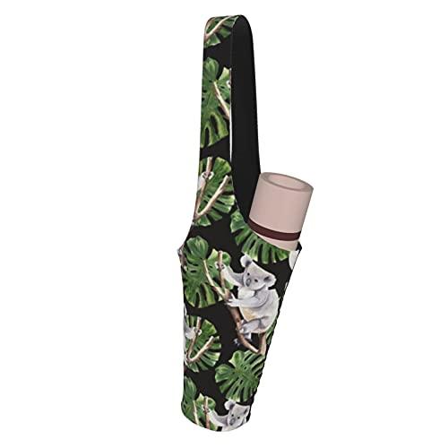 Fodmua Koala Patrón oscuro multifuncional Yoga Mat bolsa de almacenamiento bolsillos cargo para más accesorios de yoga