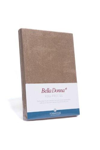Bella Donna Edel-Frottee Spannbetttuch in 90x200 bis 100x220, für Wasserbetten und Matratzen (1000-weiss)