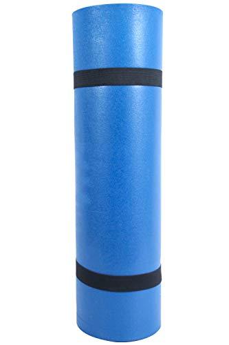 Mountain Warehouse Tapis roulé - 180cm x 50cm x 0.8cm si Ouvert et 18cm x 50cm Une Fois roulé, Tapis léger, Tapis de Camping sans gonflage - Idéal pour Le Camping Bleu Taille Unique