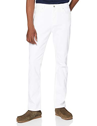 Amazon-Marke: find. Herren Slim Jeans Fnd0001am, Weiß (White), 32W / 30L, Label: 32W / 30L