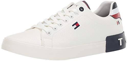 Tommy Hilfiger Men's Rezz Sneaker, White, 9.5