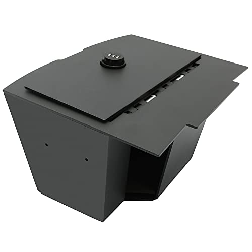 HECASA Center Console Gun Safe Storage Box Console Vault Compatible with 2009-2018 Dodge ram 1500 2500 3500