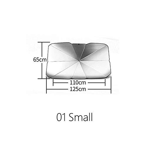 XDRE Parasol Coche Portátil Parabrisas del Coche Plegable Parasol Umbrella for Parabrisas Protección Bloque de Calor UV Fácil Uso o Tienda Cortina de Malla para Coche (Color : Small)