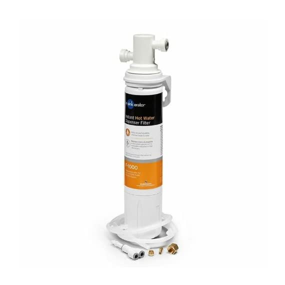 InSinkErator F-1000S, One Size 4 ENJOY BETTER TASTING WATER: The F-1000 filter is designed to reduce particulates, and the unpleasant taste and smell that chlorine adds to tap water. Filter head bracket compatible with F1000 & F2000 replacement filters. EASY INSTALLATION: The F1000S Water Filtration System includes the F1000 filter, twist-&-Lock quick-connect filter head, and the other parts needed for install. Recommended 6 month filter replacement for optimal performance. HEALTH, TASTE & SUSTAINABILITY: Filtered tap water optimizes health, saves money on bottled water, and helps manage the global volume of discarded plastic bottles. Designed for exclusive use with InSinkErator water dispensing systems.