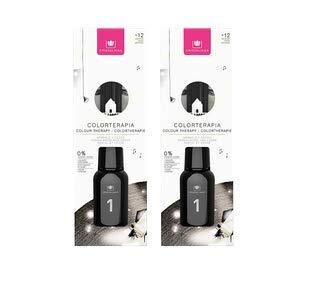 CRISTALINAS Ambientador Mikado Colorterapia de 125ml. Cristal Negro, con más de 12 semanas de duración. Aroma Sándalo y Cedro. (2x125ml)
