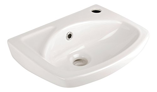 'aquaSu® Lucanti Handwaschbecken I Waschbecken Gäste-WC I Waschtisch 35 cm I Weiß