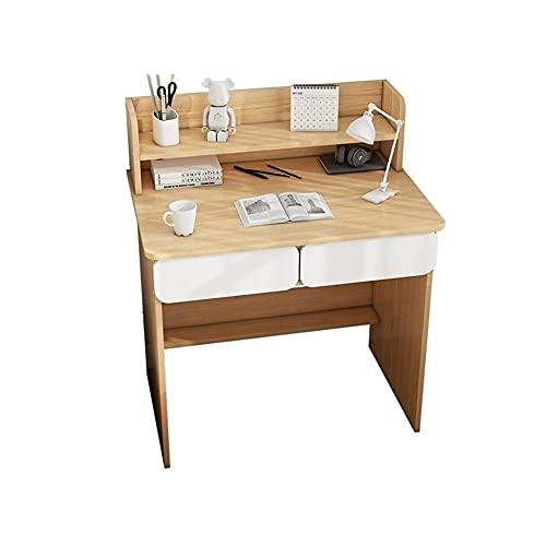 Escritorio de computadora Escritorio de madera de escritorio y estantería de la computadora de la computadora de madera Escritorio de estudio de la oficina de la oficina de la oficina para el dormitor