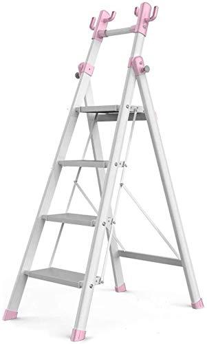 WYKDL Rango de Trabajo escalera con plataforma plegable del hogar taburete de paso ancho pedal robusto Escalera del Mango antideslizante de múltiples funciones plegable acolchado espiga de escalera in