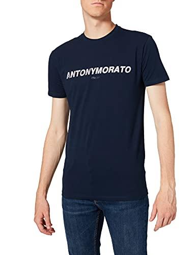 Antony Morato T Shirt Girocollo Slim Logo Camiseta para Hombre