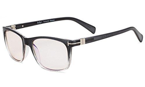Eyekepper Mode Lesebrille mit UV-Schutz,Anti reflex Lesegeräte für Computer,Gelb getönte Gläser (Grau, 2.50)