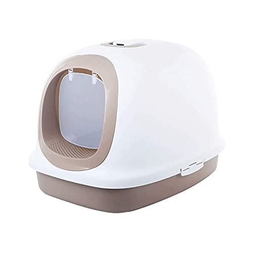 wangYUEQ Caja Extra Grande Caja de Arena Lujo Total de Lujo Aseo Suministros para Mascotas de 10 kg Cuenca de Arena Disponible de Grasa (Color: Marrón) (Color : Brown)