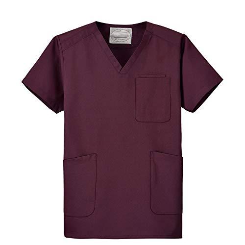ナースリースクラブ さらりタッチ 着心地が良い シワになりにくい 医療 白衣【全11色】 M バーガンディ 9126209A