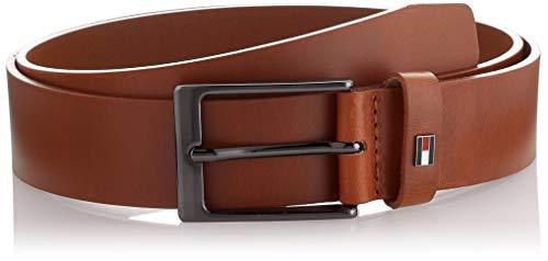 Tommy Hilfiger Layton Leather 3.5 Cintura, Marrone (Cognac), 85 Uomo