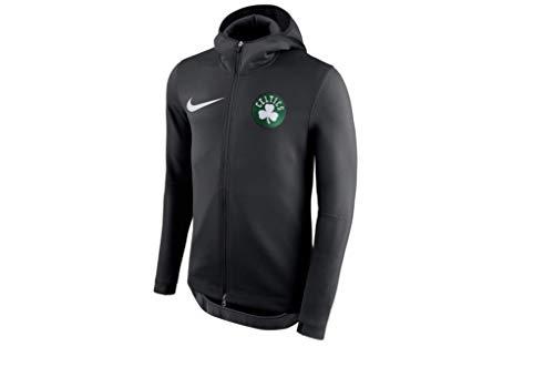 Nike Boston Celtics NBA Player Showtime Therma Black Full-Zip Hoodie - Men's 2XL (XX-Large)