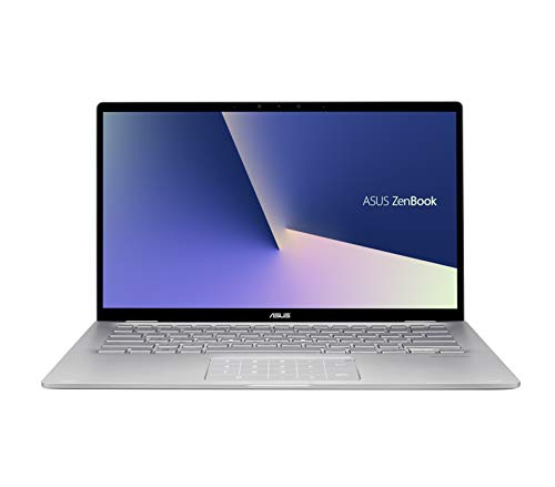 ASUS Zenbook Flip 14 UM462DA-AI110T, Notebook con Monitor 14' FHD Glare Touch-screen, AMD Ryzen 5-3500U, RAM 8GB, HDD 256GB SSD PCIE, Grafica AMD Radeon Vega 8, Windows 10, Grigio chiaro
