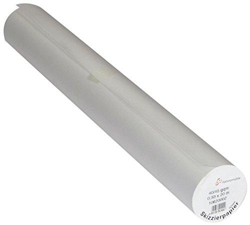 HAHNEMÜHLE 10620005 Transparente Skizzierrolle 0,64 x 20m 40/45 g/qm