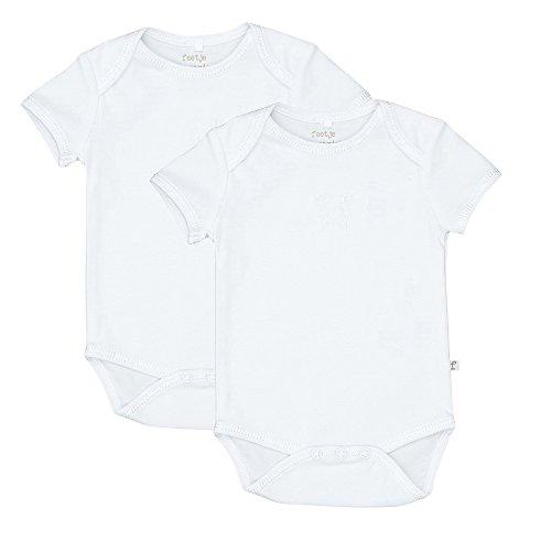 Feetje Unisex Baby - Body Kurzarm Bio Baumwolle im 2er Pack 302.211 Gr. 68 weiß (550)