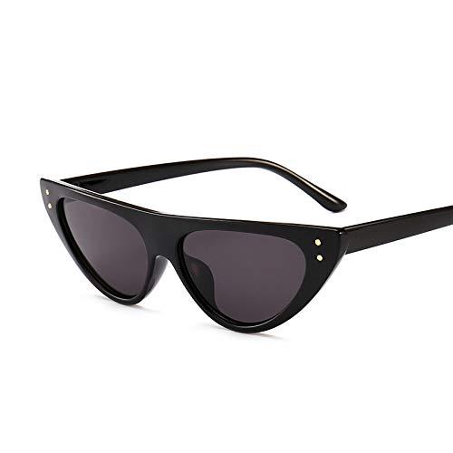HAOMAO Gafas de Sol de Ojo de Gato Triangulares pequeñas Vintage Uv400 para Mujer C1