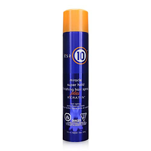 It's a 10 Miracle Super Hold Finishing Hair Spray Plus Keratin, 10 Ounce by It's a 10