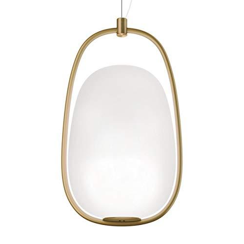 Kundalini lannà lampada a sospensione, ottone bianco baldacchino in ottone h 40cm Ø 22cm