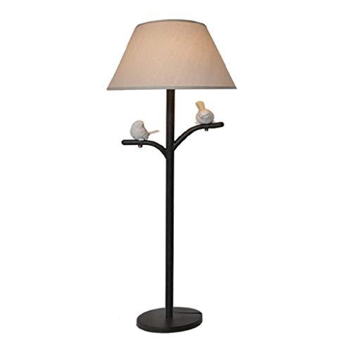 CLJ-LJ LED personalizados los creativos Jane Europea Salón Lámparas de Tierra, Americano Rural Pastoral de la Lámpara Nordic Ambiente Pájaro Luz Eye-Cuidado Vertical Plano Luz