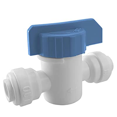 """Express Water 1/4"""" Straight Inline Ball Valve Quick Connect Fitting Connection Parts for Water Filters / Reverse Osmosis RO Systems by Express Water"""