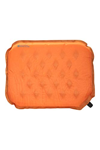 Mountain Warehouse Ultimate Self Inflating Sit Mat - 38X33X3CM Durable Mattress, Diamond Ripstop Cushion, Open Foam Cell Seat -Best for Camping, Hiking, Picnics, Gardens Orange