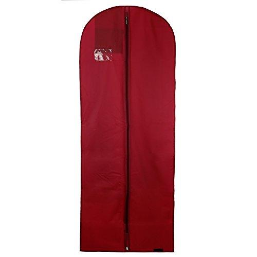 Hangerworld - Custodia porta abiti imperbeabile rosso bordeaux 150 cm
