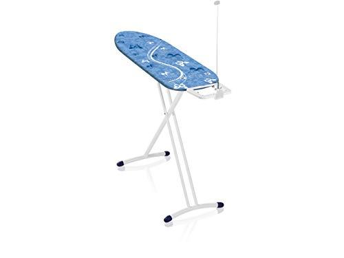 Leifheit Tabla de planchar plegable Air Board M Solid para planchas de vapor, mesa de planchar ultraligera, tabla de planchado en menos tiempo