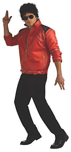 Rubies 889774 - Erwachsene Kostüm Michael Jackson Beat it DLX rote Jacke, Gr. XL