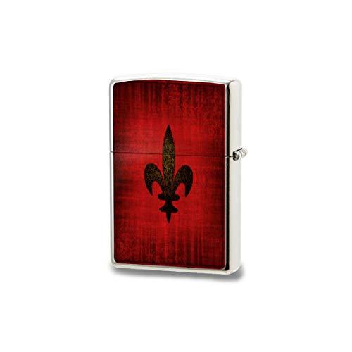 LESIF Feuerzeug, mittelalterliches rotes Samtkissen, winddicht, wiederverwendbar, verstellbare Flamme, Feuerzeug, für Grill, Kerze, Grill, Feuerwerk, Herren, Geschenkbox, Schwarz