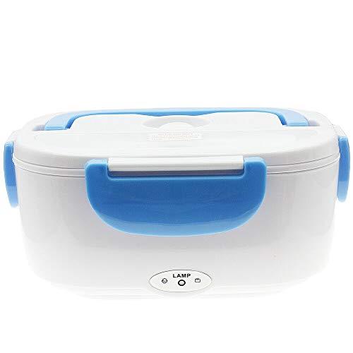 Blue electric heated us plug heating lunch box bento travel food warmer 110v plastic