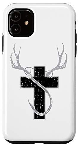 iPhone 11 Funny Christian Hunting Fishing Lover Gift For Men And Women Case