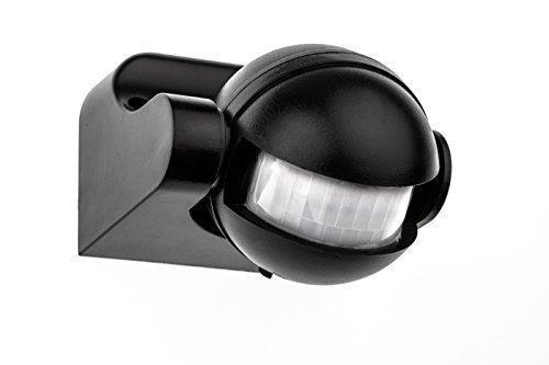 HUBER MOTION 2, Infrarot Bewegungsmelder 180°, schwarz, vertikal einstellbar, für Innen- und Außenbereich, IP44 Spritzwasser geschützt
