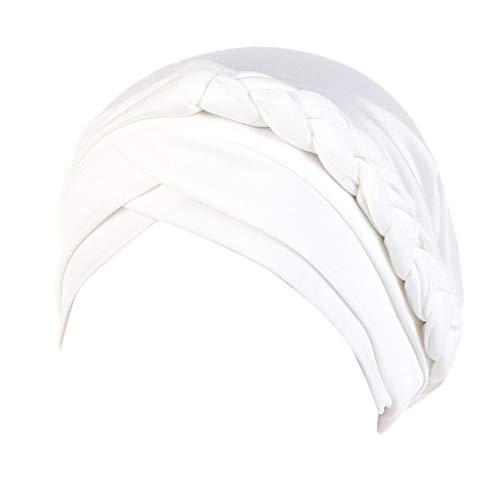 BOLANQ jagdhut Badekappe besticken Bedrucken selbst gestalten perücke kostüme faschingskostüme kostüm(Weiß,Free Size)