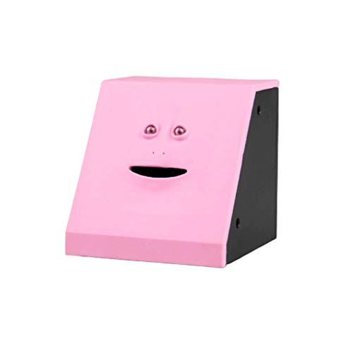 WINON Sparschwein Gesicht Geld Essen Box Nette Facebank Sparschwein Münzen-Geld-Münze Sparkasse for Kinder Spielen Geschenk-Dekoration Spardosen (Color : Pink)