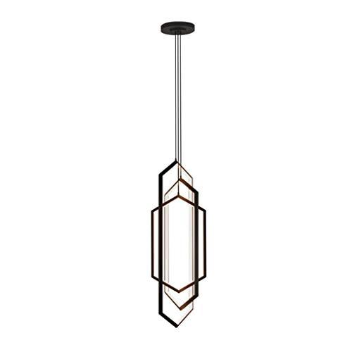 Pointhx Lámpara de techo de hierro con 3 luces LED de hierro para decoración de escaleras, pasillo de café, restaurante, cocina, isla, iluminación