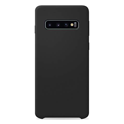 1001coques - Carcasa para Samsung Galaxy S10 Plus (silicona), color negro