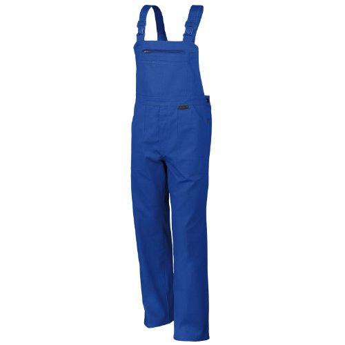 Latzhose QUALITEX 270, 5 Farben, einlauffeste Baumwolle, Größe 44-64, 90-110 42,Kornblau