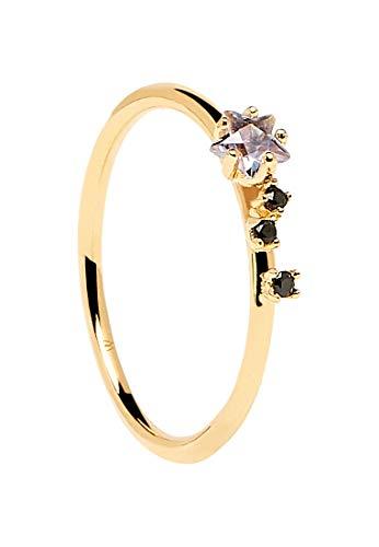 P D Paola An Voyager 32012113 Women's Ring 925 Silver Corundum 54 cm Gold